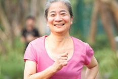 Senior citizen running for fitness