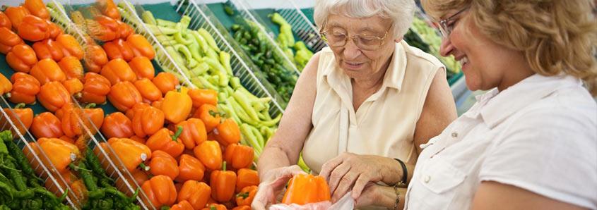 Senior in the produce department